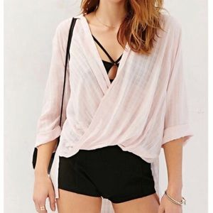 High low surplice tunic top blush pink Forever21 S